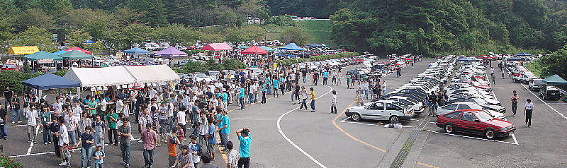 many many ae86s at HachiRock!! Festa 2008