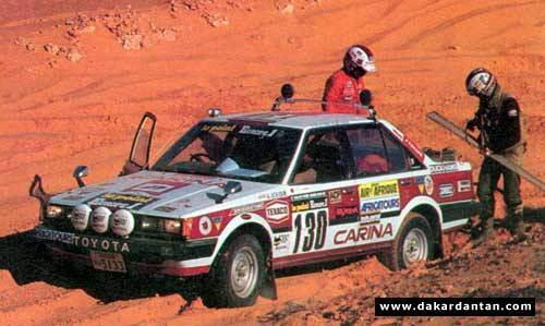 Carina in 1983 Paris-Dakar