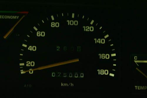 Carina done 75000km