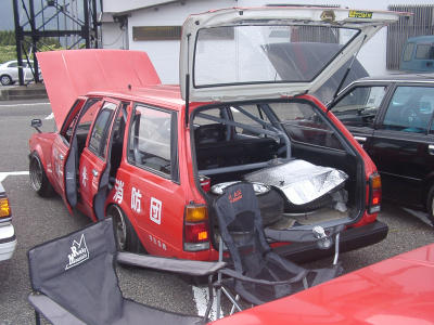 Carina SA60 firevan on second national Toyota Carina A60 & Corona T140 meeting on mount Fuji