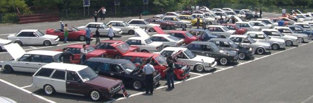 Overview of the second national Toyota Carina A60 & Corona T140 meeting on mount Fuji