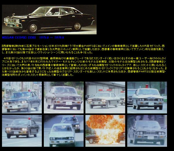 Seibu Keisatsu Cedric C330s used by the Police