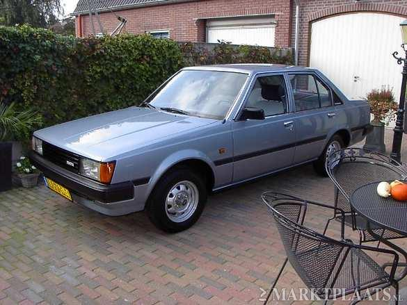 Front view of the immaculate blue Toyota Carina DX TA60 for sale on Marktplaats