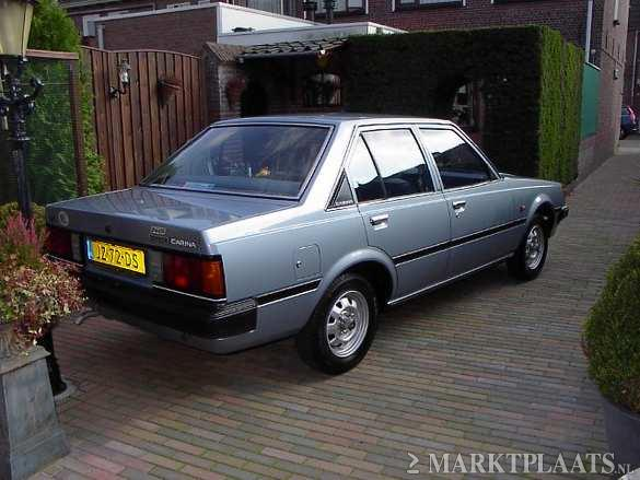 Rear view of the immaculate blue Toyota Carina DX TA60 for sale on Marktplaats