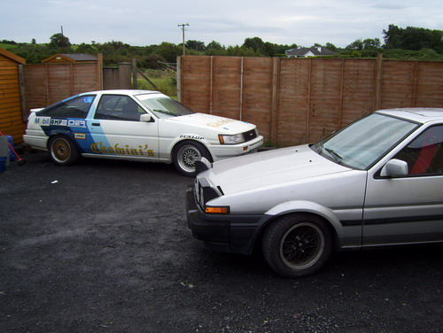 How the Trueno looked after I sold it (with Chowini AE86 in background)