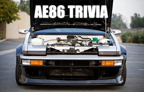AE86 Trivia