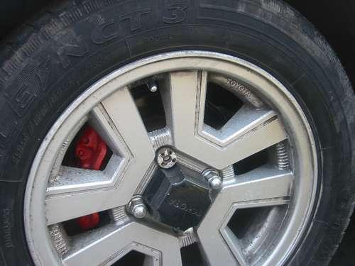 Toyota Carina GT-R AA63 for sale in Peru, original rim (Celica Supra rim)