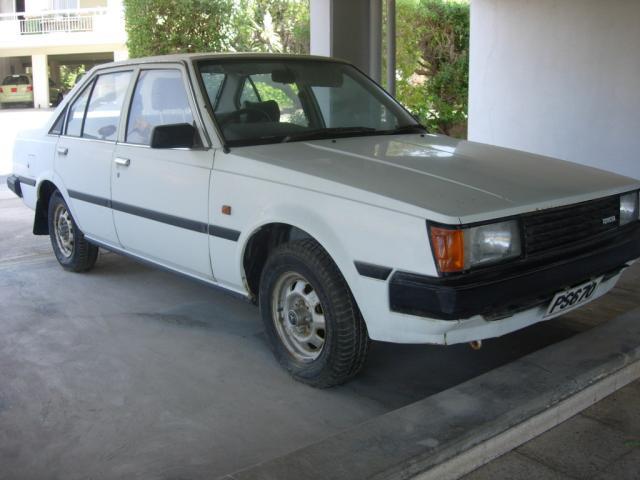 White Cyprian Toyota Carina DX TA60