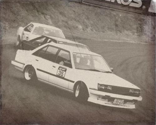 New background: AT140 coupe, AA63 sedan and AA63 coupe drifting somewhere in the 80s
