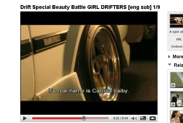 Drift: Beauty Battle Corolla Levin becomes Carrola Laiby