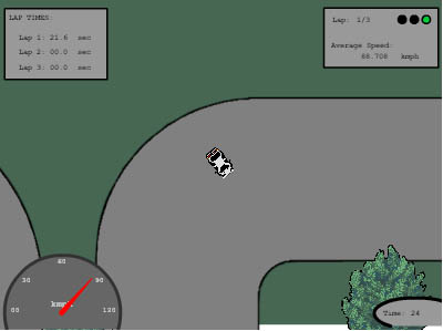 Initial D flashgame drift stage