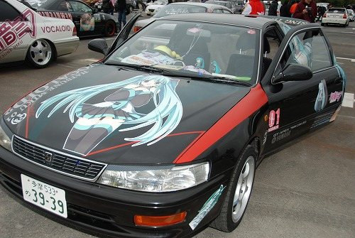 Levin AE101 on otaku car festival front