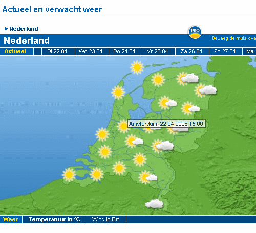 weather in amsterdam today