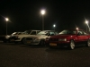 Groupshot at night with two Corolla AE86s, my Carina TA60 and the Celica AA63