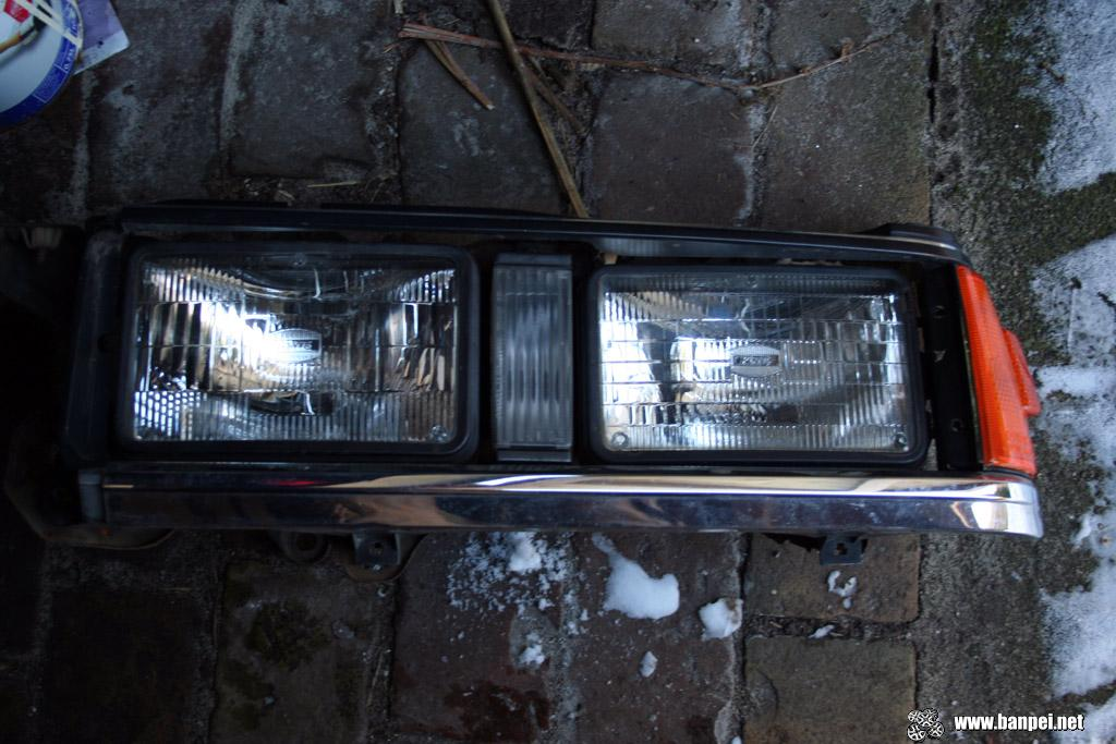 How the double headlights look now