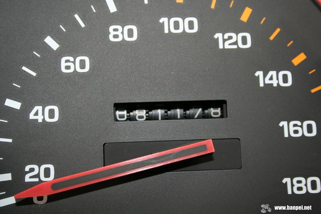 Carina GT-R AA63 cluster cleanup: odometer adjusted