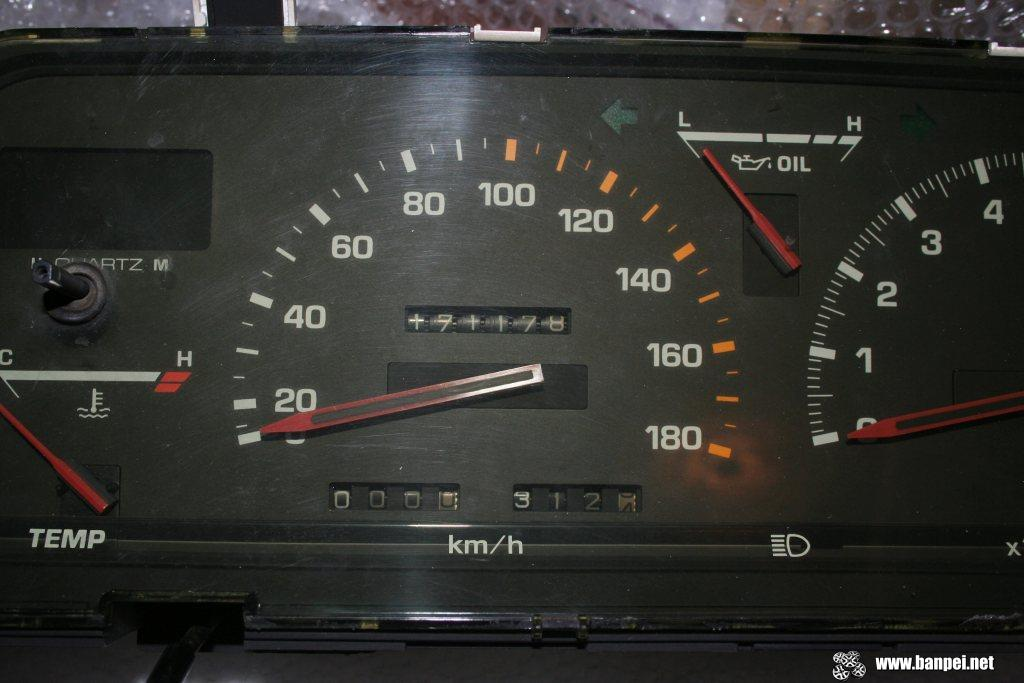 Carina GT-R AA63 cluster, zoom in speedo and odometer