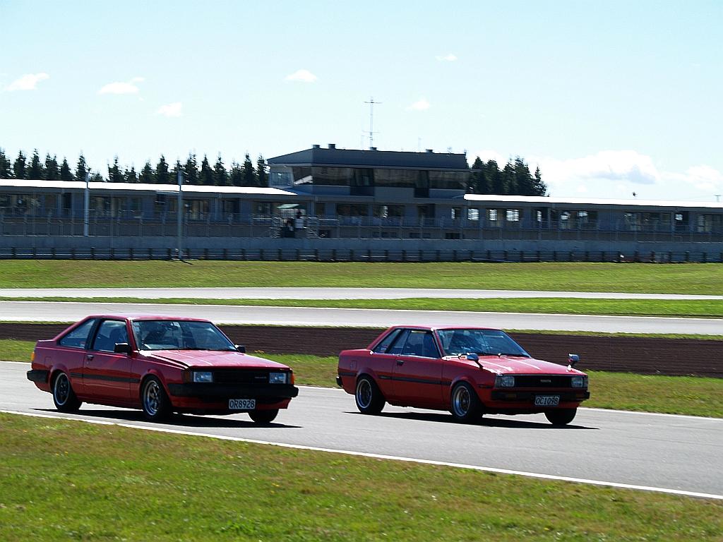 Toyota Carina AA63 coupe and Corolla AE70 hardtop
