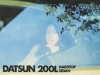 Datsun 200L hardtop en sedan - Dutch brochure - cover