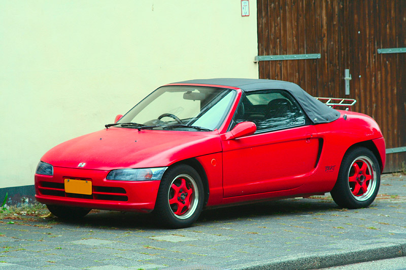 Down on the Street: red 1992 Honda Beat
