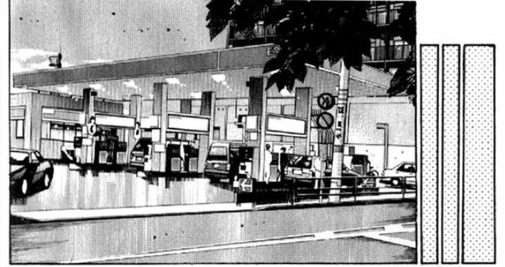 Initial D gas station