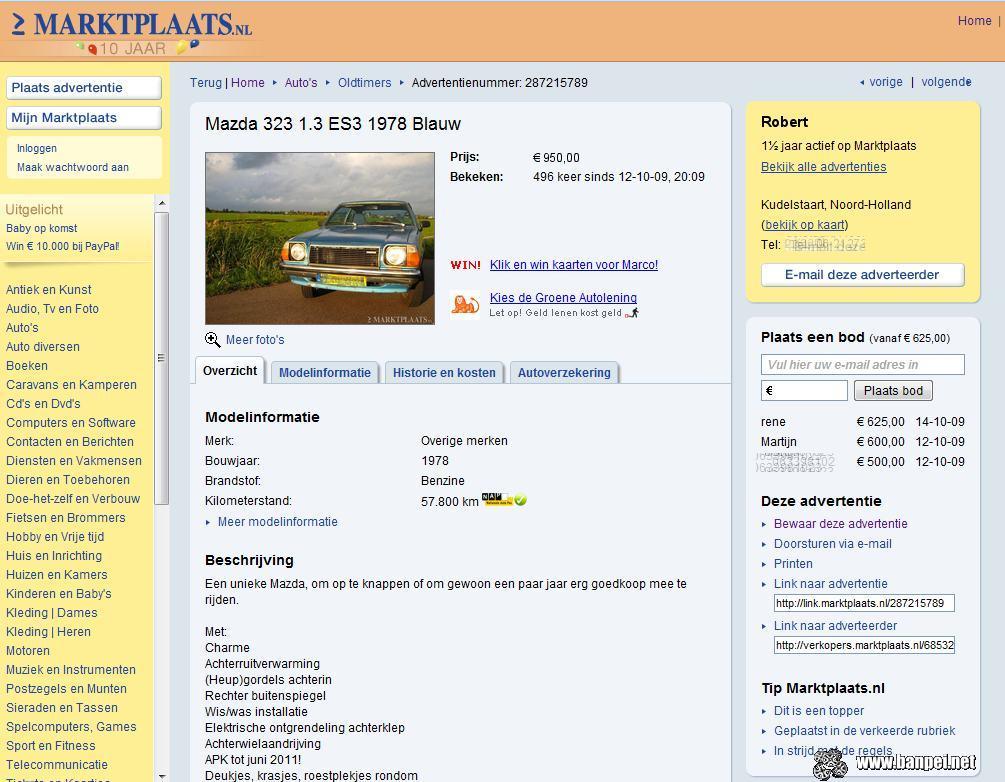 DOTS: Mazda 323 mk1 - Banpei.net