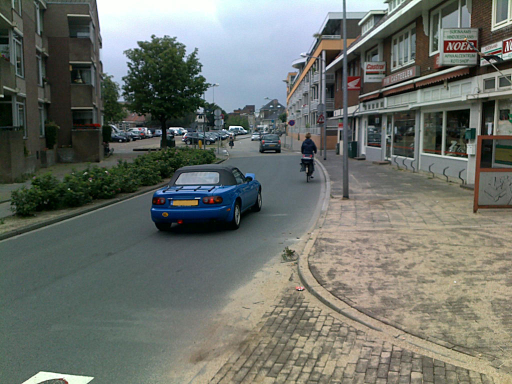 Blue 1991 Mazda MX5 NA