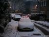 Snow covered Mazda Miata