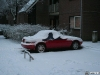 Snow covered Mazda Miata