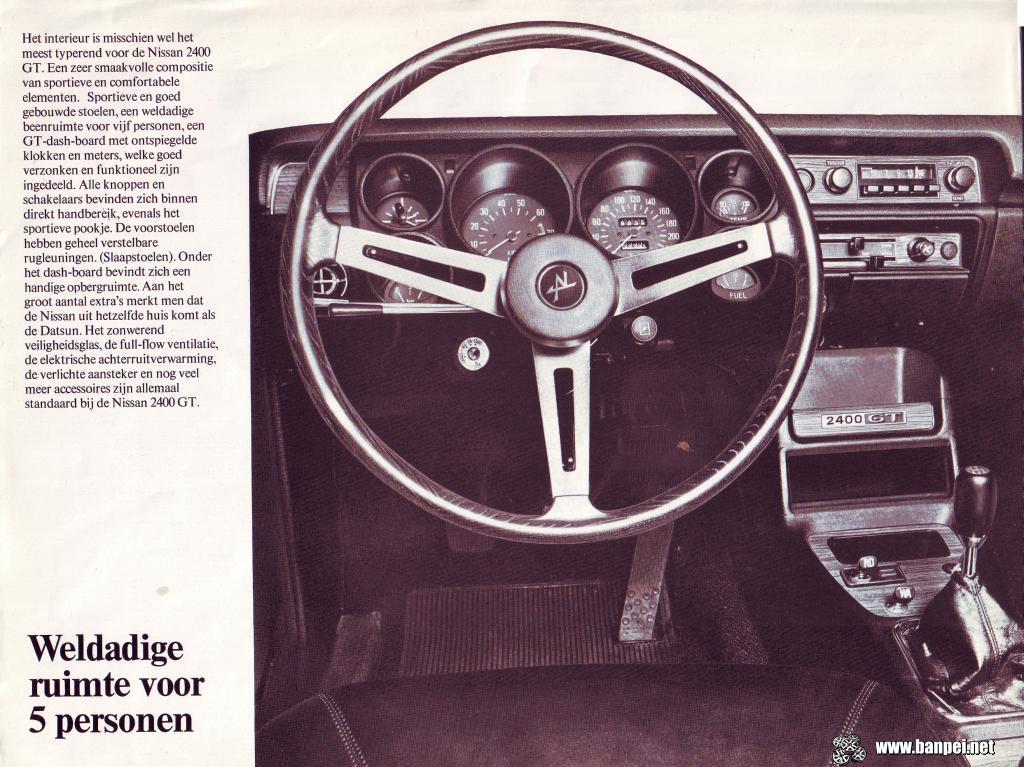 Dutch Nissan 2400 GT catalogue page 2
