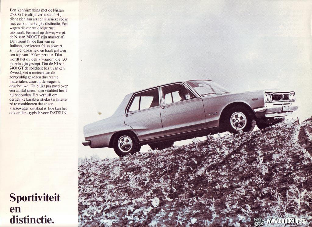 Dutch Nissan 2400 GT catalogue page 4