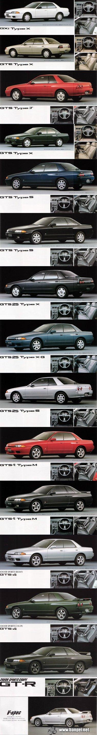 Nissan Skyline R32 all models