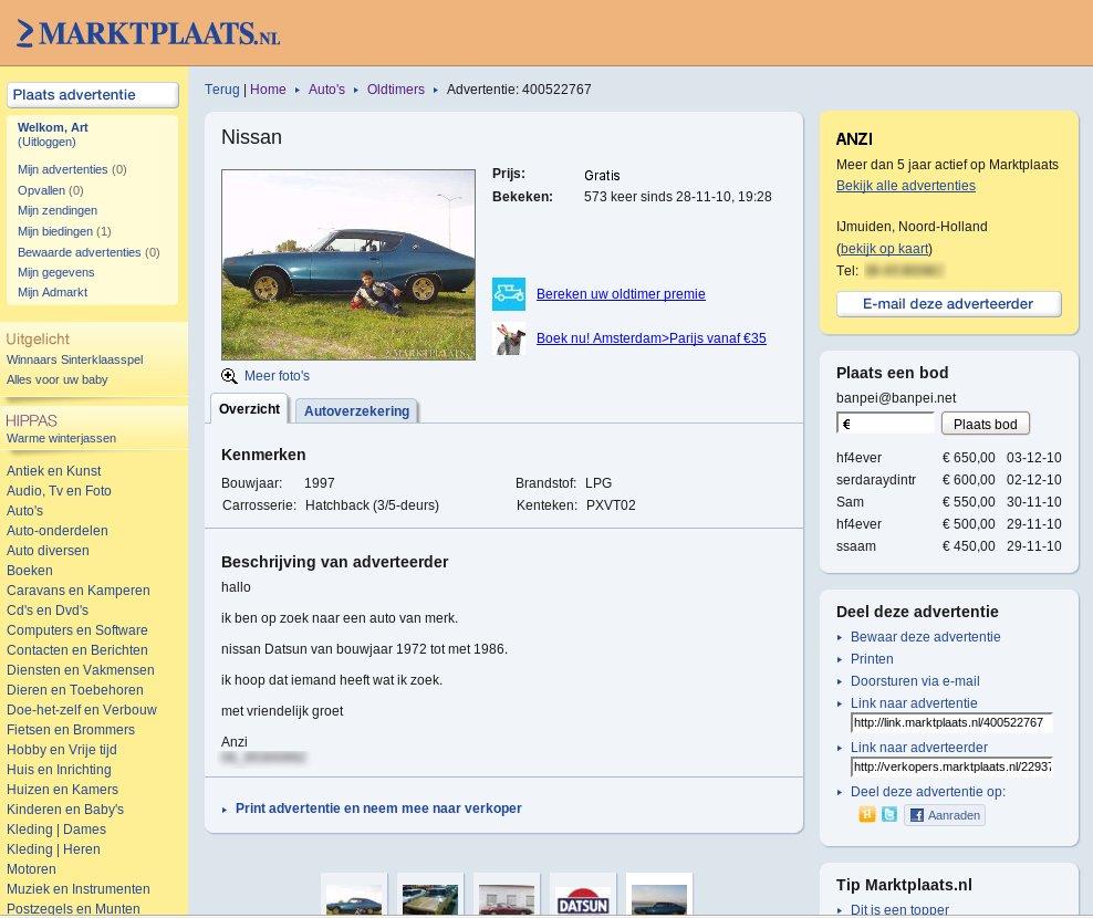 WTF: Datsun 240K GT on Marktplaats - Banpei.net
