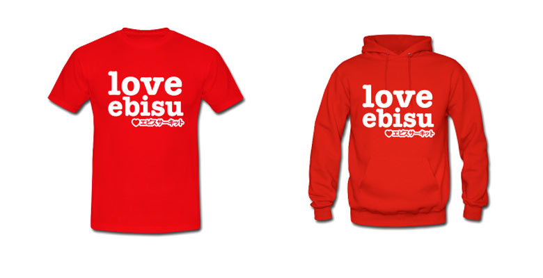 Love Ebisu shirt and hoodie