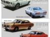 All generations of the Nissan Bluebird