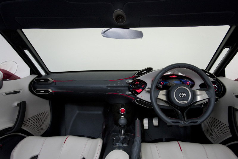 Toyota FT-86 concept AE86 styled dashboard