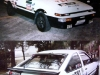 Nineties stickerbombed Toyota Sprinter Trueno AE86