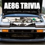 AE86 Trivia: Rotating grille Corolla Levin