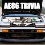AE86 Trivia: Digital dashboard