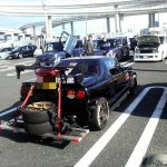 Hilarious: Autozam AZ-1 hauling an extra set of tires!
