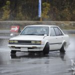 Carina Sightings: white Carina AA63 drifting on a wet Suzuka