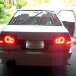 WTF: AE86 disco LED tail lights?