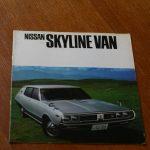 Brochures: Nissan Skyline VBC110 van