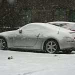 DOTS: snow covered Nissan Fairlady 350Z