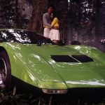 Mazda RX-500 concept car in the woods