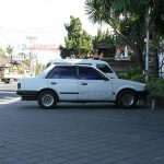 Bali: Ford Laser (Mazda Familia) on Longchamps