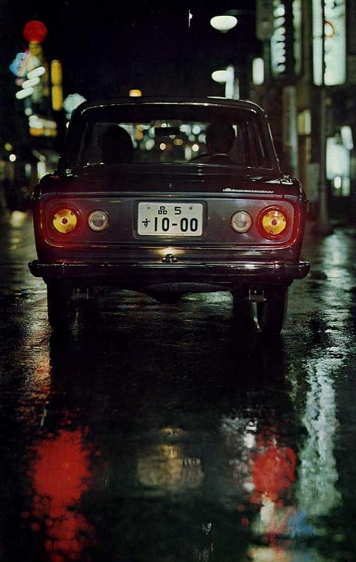 Around midnight in Tokyo with your Mitsubishi Colt 1000