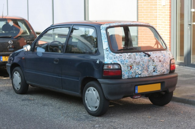 Stickerbombed Suzuki Alto