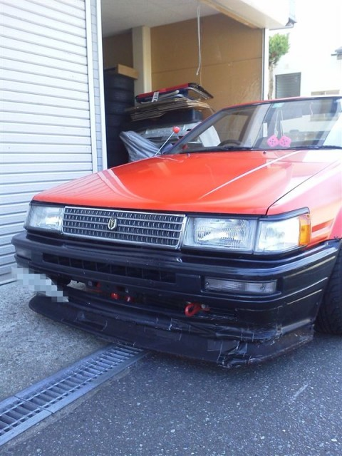 Corolla Levin AE86 with Mark II Grille