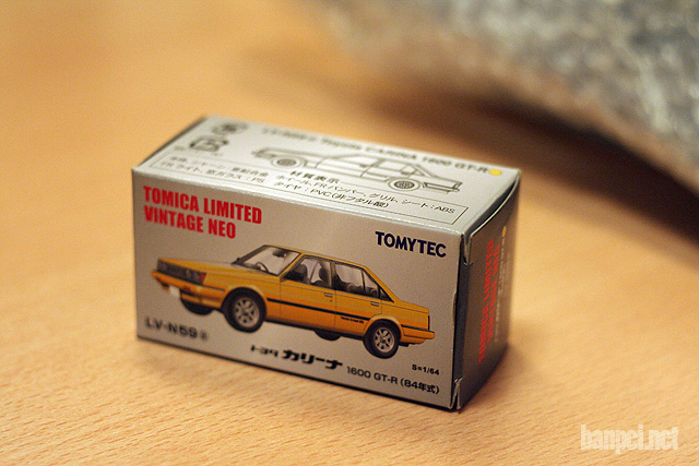 Tomica Limited Vintage Neo 1/64 scale Carina AA63 GT-R